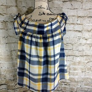 Moon River Plaid Blouse size Small